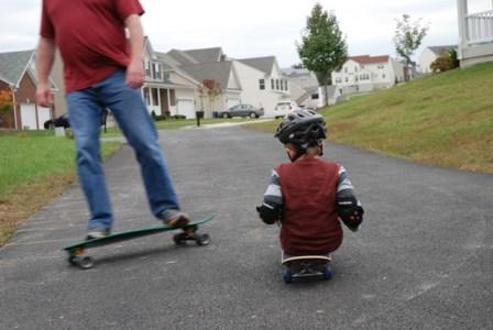 husband skateboarding