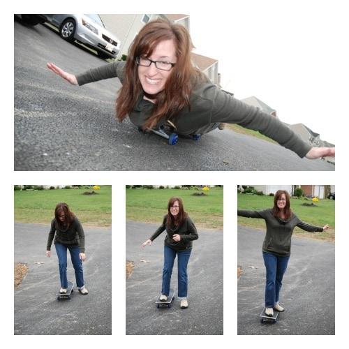 mom goes skateboarding