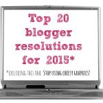Top 20 Blogger Resolutions
