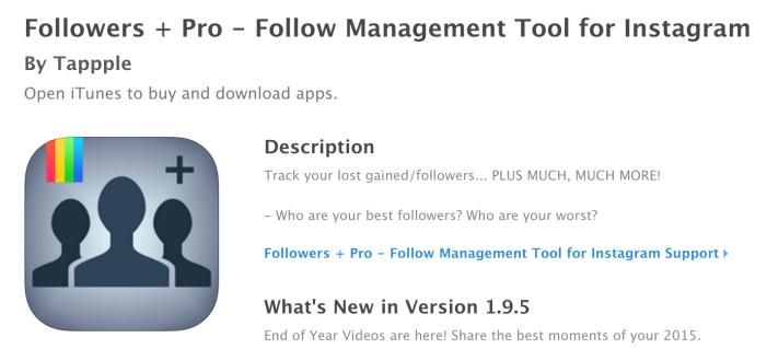 Followers + Pro Instagram app