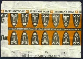 Hotel soaps in Kenya come wrapped with some pretty neat wrappers.