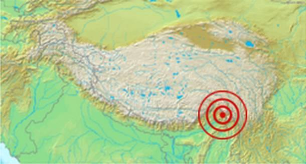 Assam and Tibet earthquake