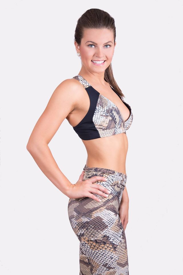 Valerie Gatto modeling for Dona Jo Fitwear.