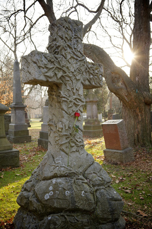 Gravestone in Mt. Pleasant Cemetery
