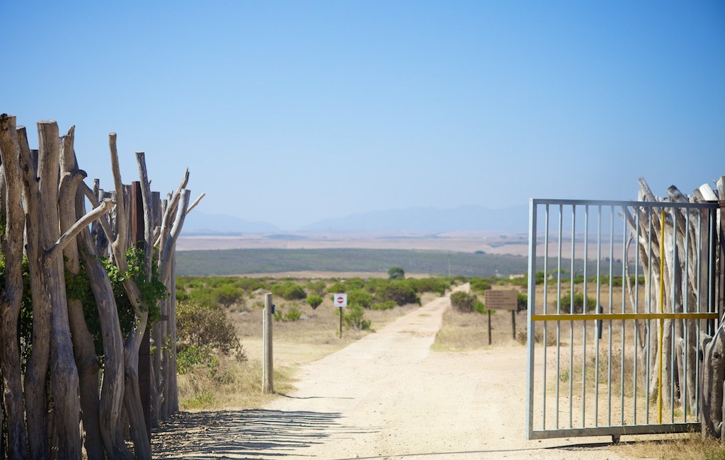 Entrance to Garden Route Game Lodge, Albertinia, South Africa