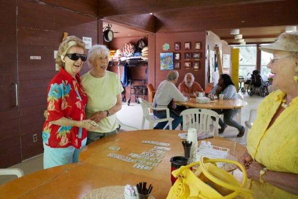 Meeting Isobel's friends at the seniors centre.  (c) Allyson Scott