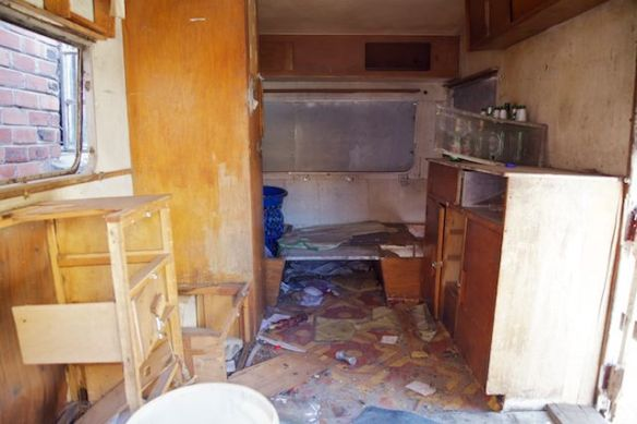 Trailer interior, Langa Township, South Africa  (c) Allyson Scott