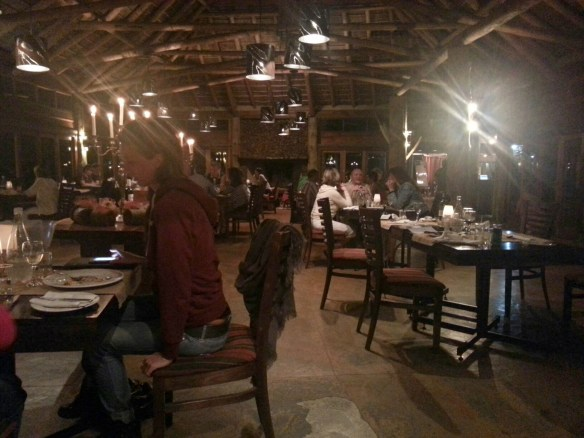 Dinner in the main lodge  (c) Allyson Scott