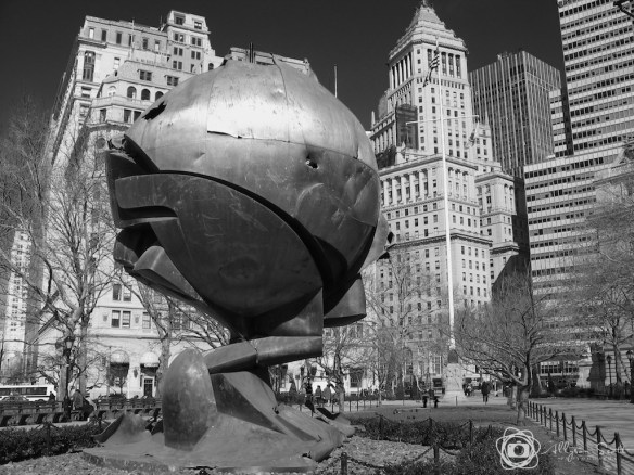 The Sphere by Fritz Koenig in Battery Park