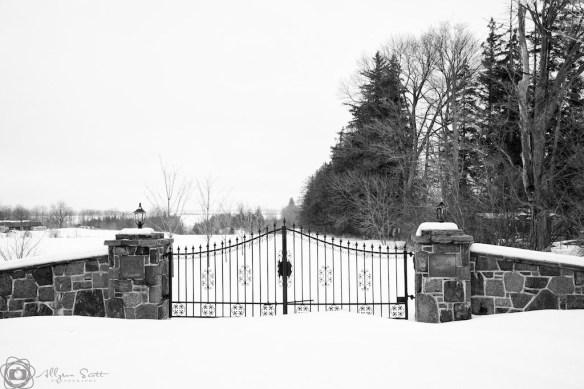 Gate to Reesor Pioneer Cemetery
