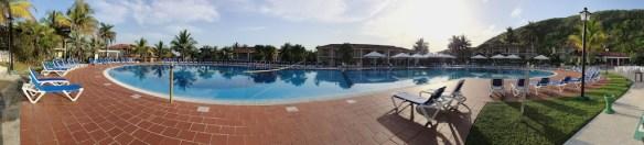 Pool area at resort in Jibacoa, Cuba