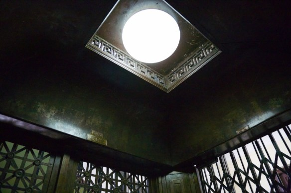 Elevator interior at Hotel Ambos Mundos