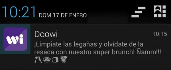 doowi app notificacion