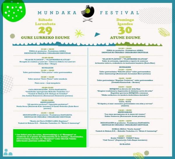 mundaka festival actividades gastronómicas