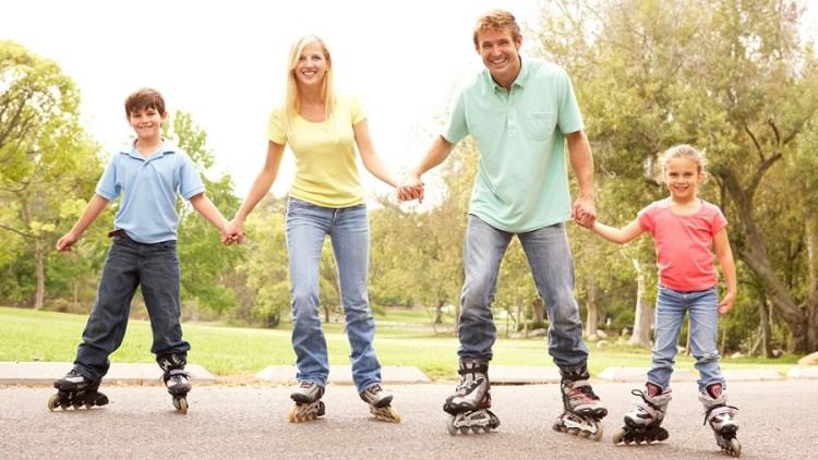 family-roller-skating