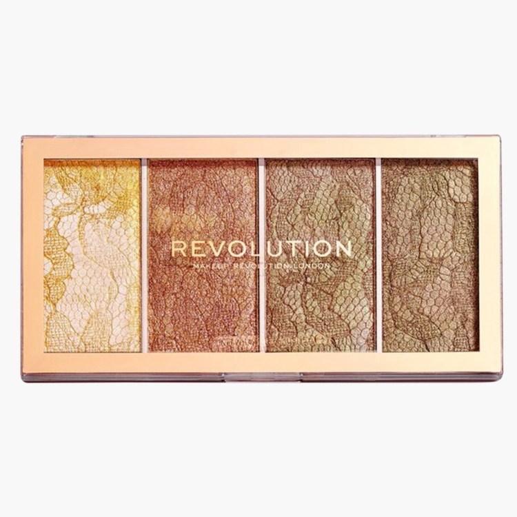 LIFESTYLE_MakeUp Revolution Revolution Vintage Lace Highlighter Palette 89AED@LIFESTYLE