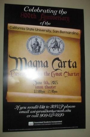 Magna Carta  CSUSB