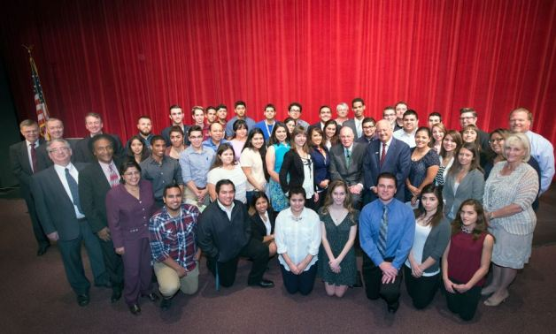 Justice Anthony Kennedy with Cal State San Bernardino Political Science Students and Faculty in 02/2015
