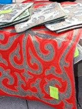 натуральная шерсть, изделия из войлока, войлоковаляние, валяние, корпе, войлок, национальный узор, национальный орнамент