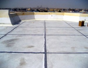 ROOF IS FINISHED WITH SKIRTING AND EXPANSION JOINT WORK