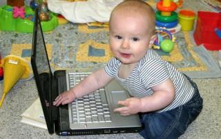 baby social media expert computer