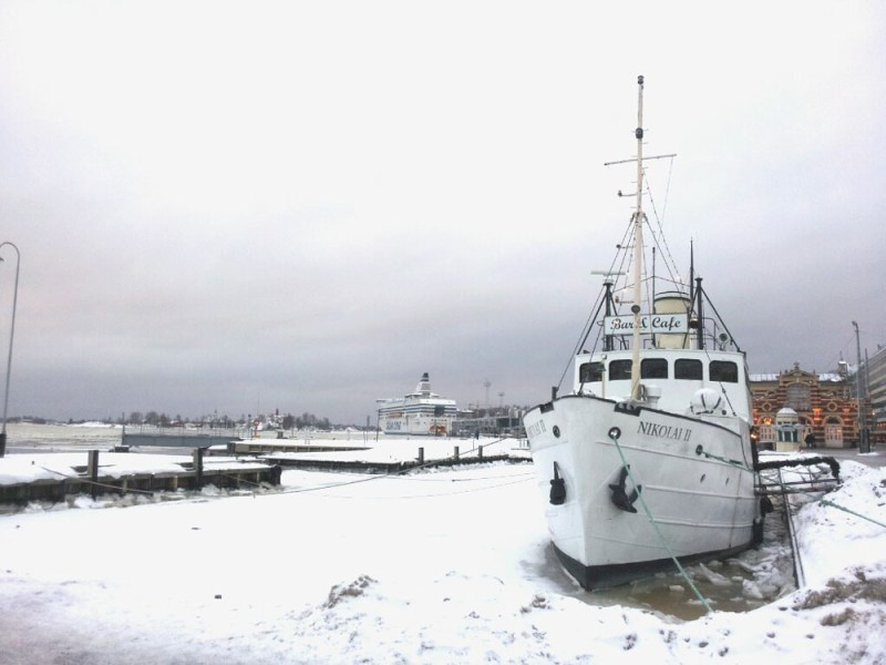 Helsinki Boat in the Snow