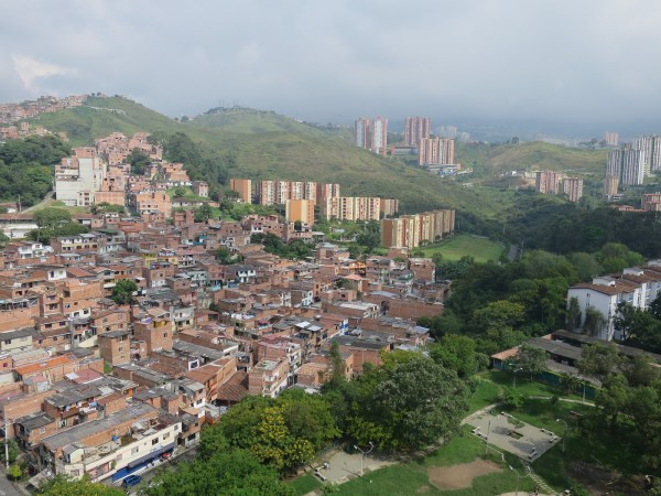 A small slice of Medellín and the surrounding mountains