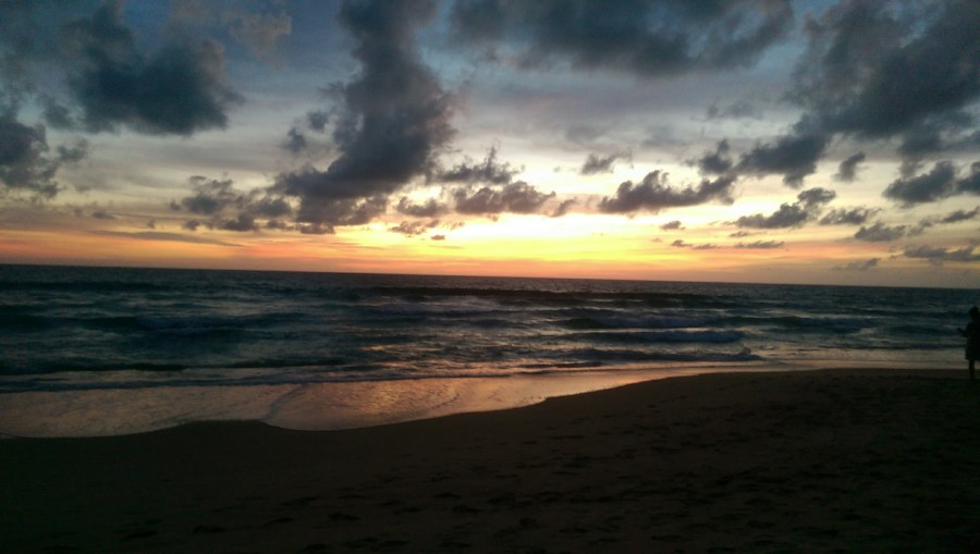 Sunset over Karon Beach