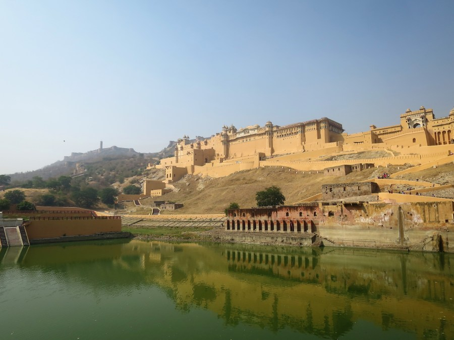 The imposing Amber Fort in Jaipur