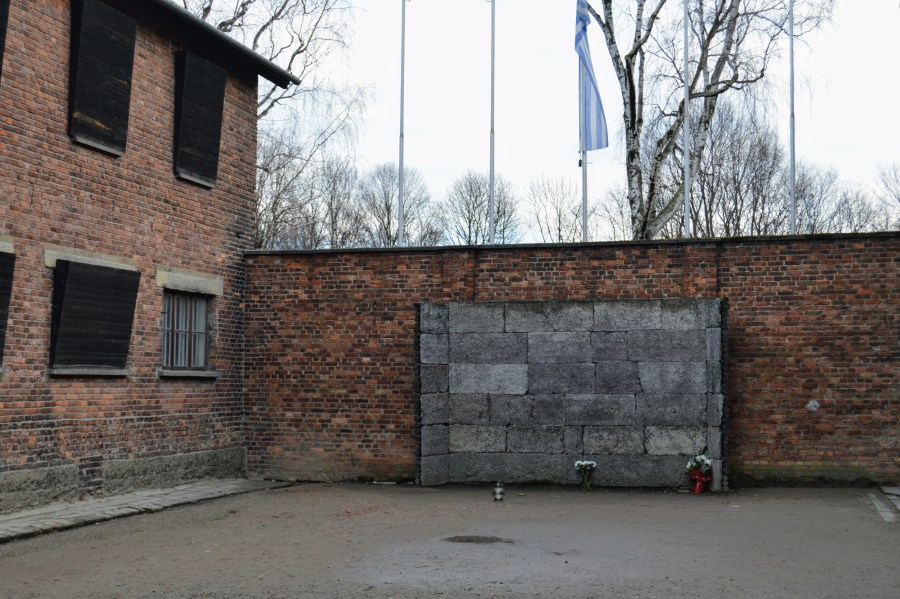 The execution wall, where over 7,000 people were individually killed.