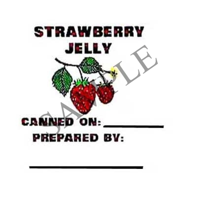 Strawberry Jelly Round Canning Label #L138