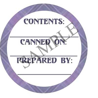 Purple Plaid Circle Round Canning Label #L233