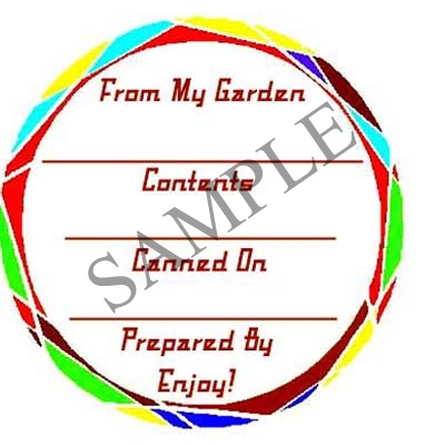 Geometric Circle Round Canning Label #L245