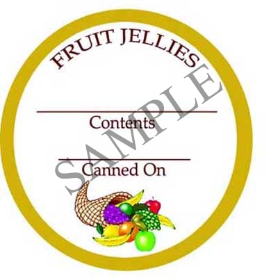 Fruit Jellies Round Canning Label #L251