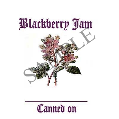 Blackberry Jam Round Canning Label #L271
