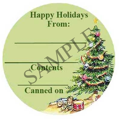 Happy Holidays Round Canning Label #L275