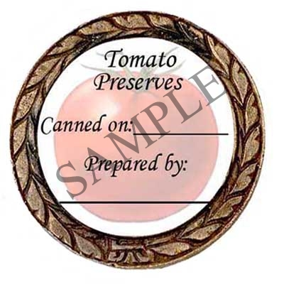 Tomato Preserves #2 Round Canning Label #L284