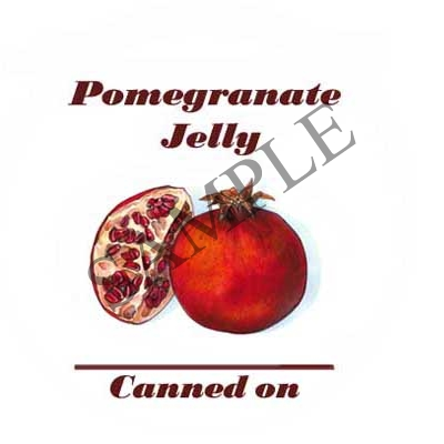 Pomegranate Jelly Canning Label #L287