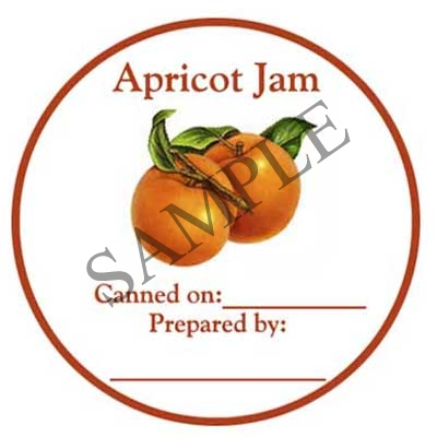 Apricot Jam Round Canning Label #L295