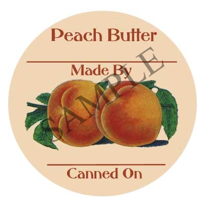 Peach Butter Canning Label #L310