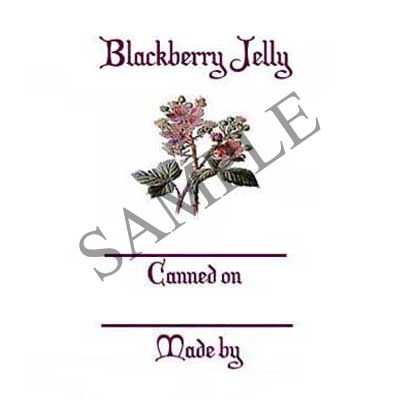 Blackberry Jelly Round Canning Label #L318