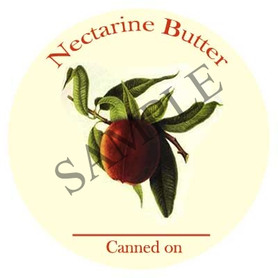 Nectarine Butter Round Canning Label #L349