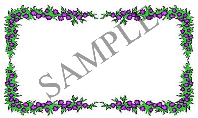 Purple Berry Border Blank Rectangle Canning Label #RB103