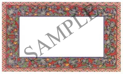 Opulent Floral Border Blank Rectangle Canning Label #RB105