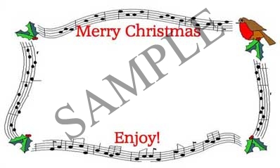 Christmas Border Blank Rectangle Canning Label #RB115