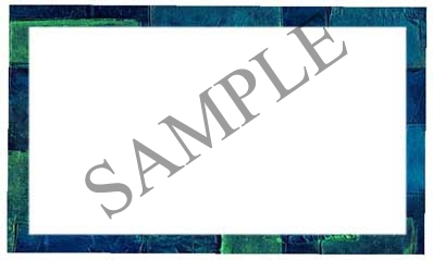 Blue Brick Border Blank Rectangle Canning Label #RB116