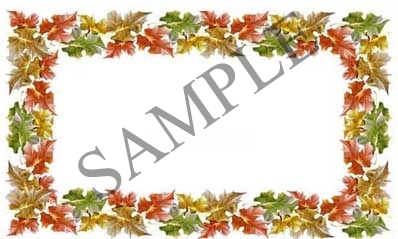 Happy Thanksgiving Leaves Blank Rectangle Canning Label #RB122