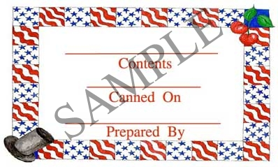 American Rectangle Canning Label #RCT132