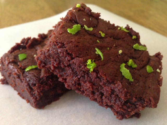 Extra Dark Brownies with Sea Salt and Lime - A Love Letter ...