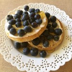 Blueberries waffles